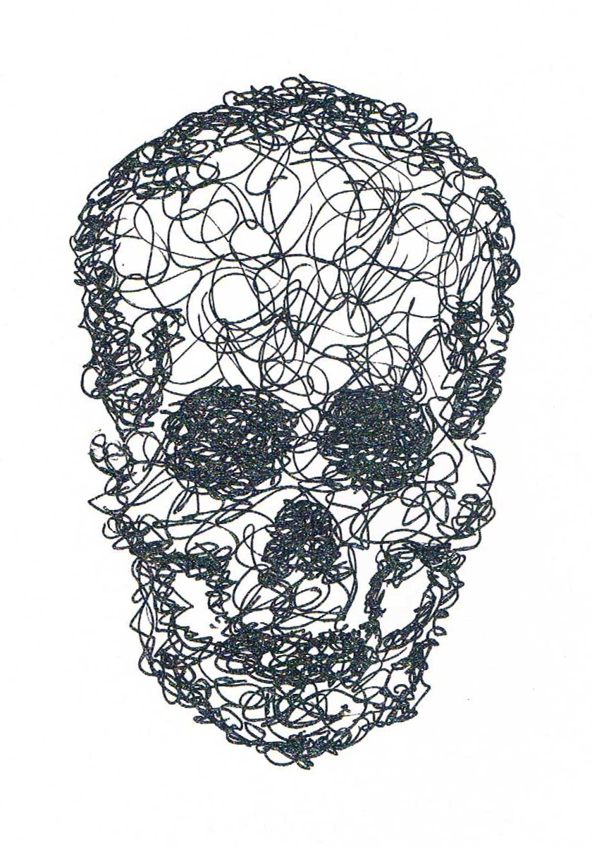 Scribble Drawing Art : Scribble skull by kitsunexfalling on deviantart