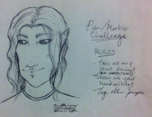 Pen/marker Challenge by NerdNations
