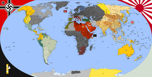 Nazi Victory Map -PART 3- by Totentanz0