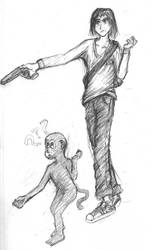 limp-wristed Gun-fu? by fenrihr