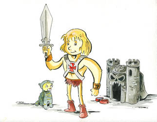 He-Man as a kid by littlereddog