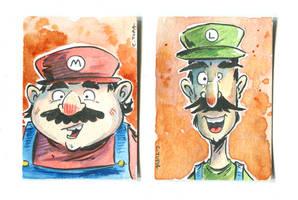 Tupa Mario Cards by littlereddog