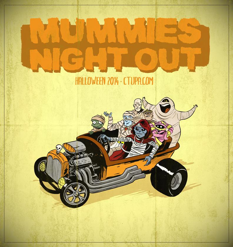 Mummies Night Out by littlereddog