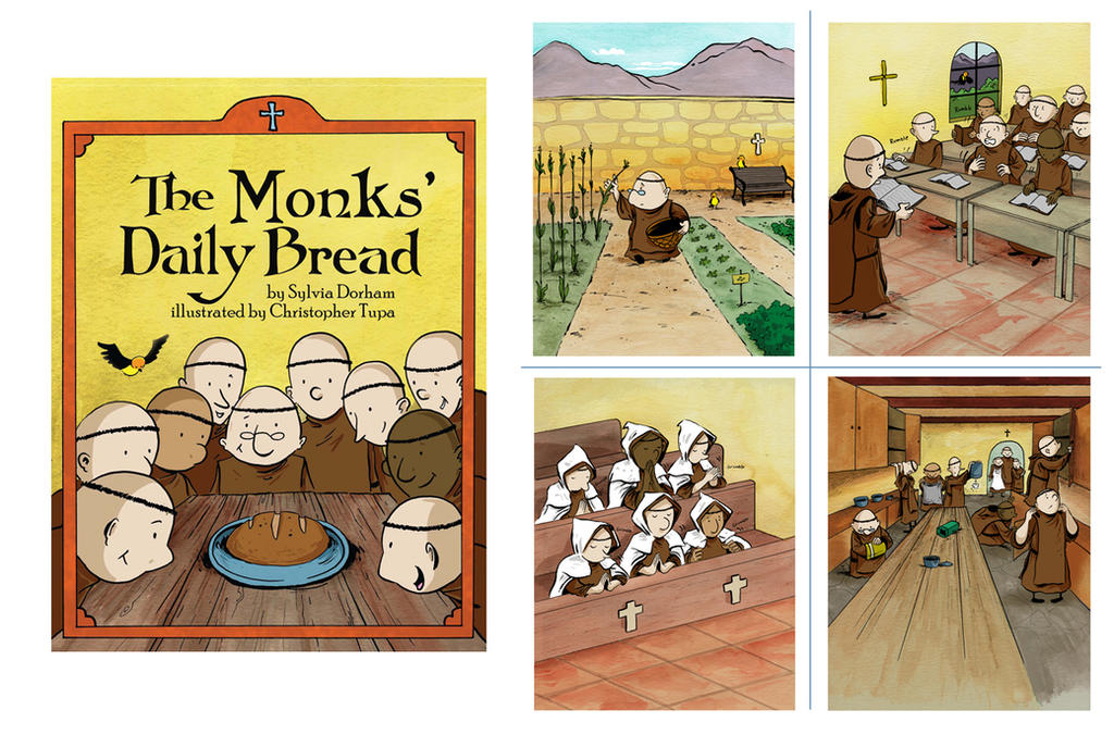 Tupa_ The Monks' Daily Bread by littlereddog