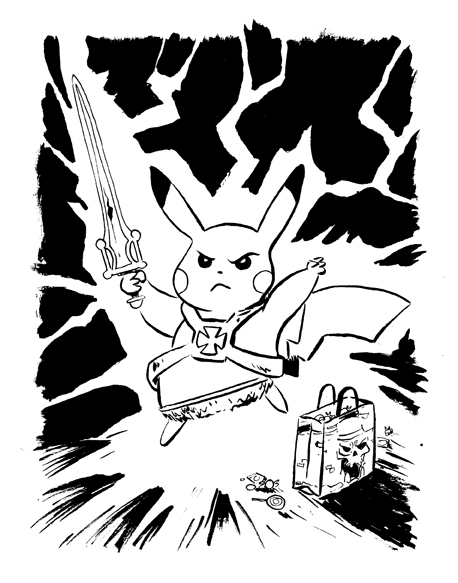 Tupa Pikachu heman by littlereddog
