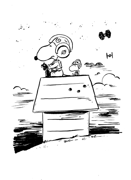 Tupa Snoopy Rebel Pilot by littlereddog