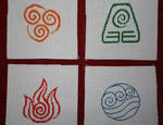 Avatar TLA - Four Nation Symbols COMPLETED