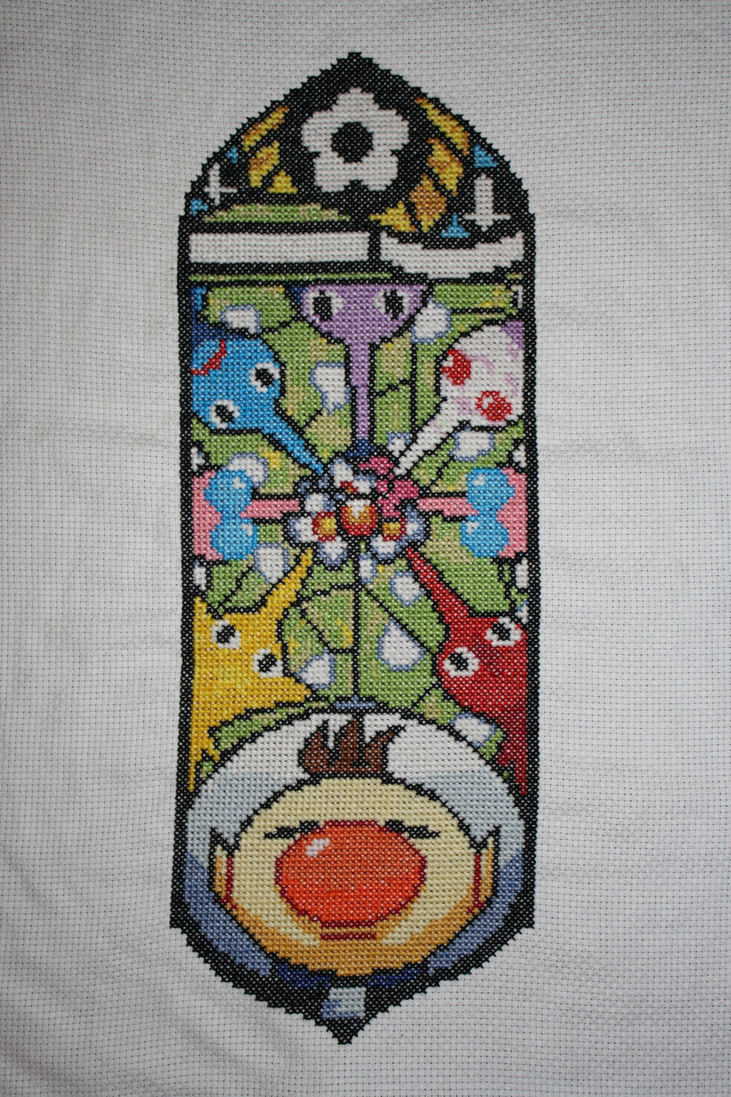Pikmin Stained Glass COMPLETED