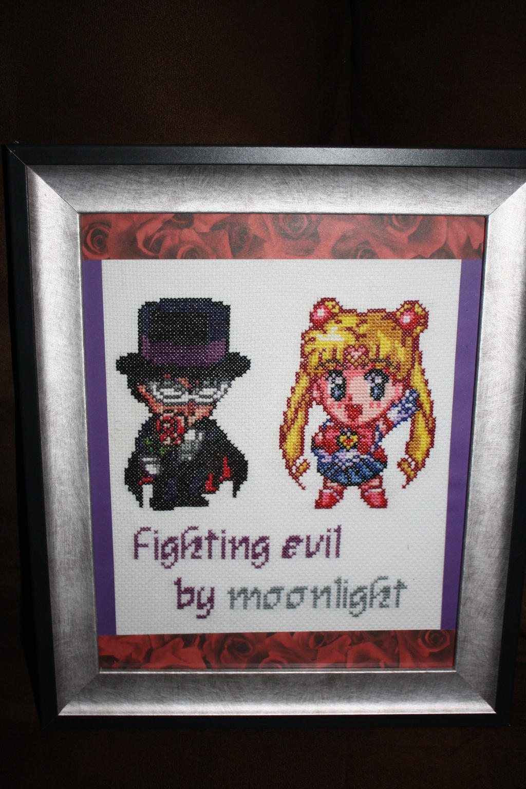 Fighting Evil Be Moonlight FRAMED