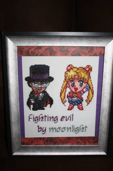 Fighting Evil Be Moonlight FRAMED