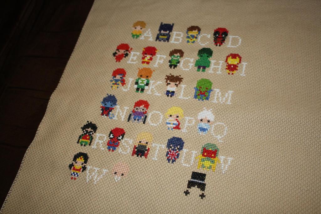 Superhero Alphabet Sampler WIP #2