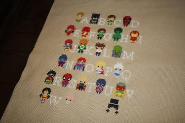 Superhero Alphabet Sampler WIP #2 by NicMarRay