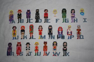 Girl Power Superhero Comic Book Alphabet WIP #2 by NicMarRay