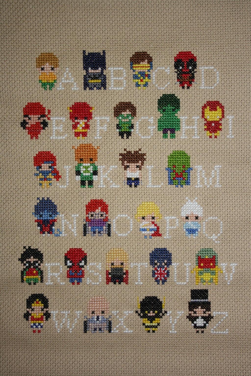 Superhero Alphabet Sampler COMPLETED