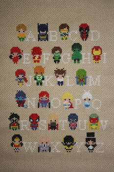 Superhero Alphabet Sampler COMPLETED