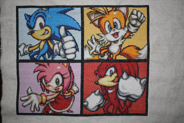 Sonic Portrait COMPLETED by NicMarRay