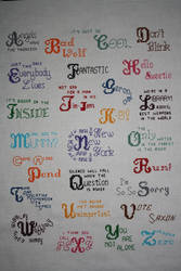 Doctor Who Alphabet COMPLETED by NicMarRay