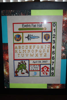 World of Warcraft Baby Birth Record FRAMED