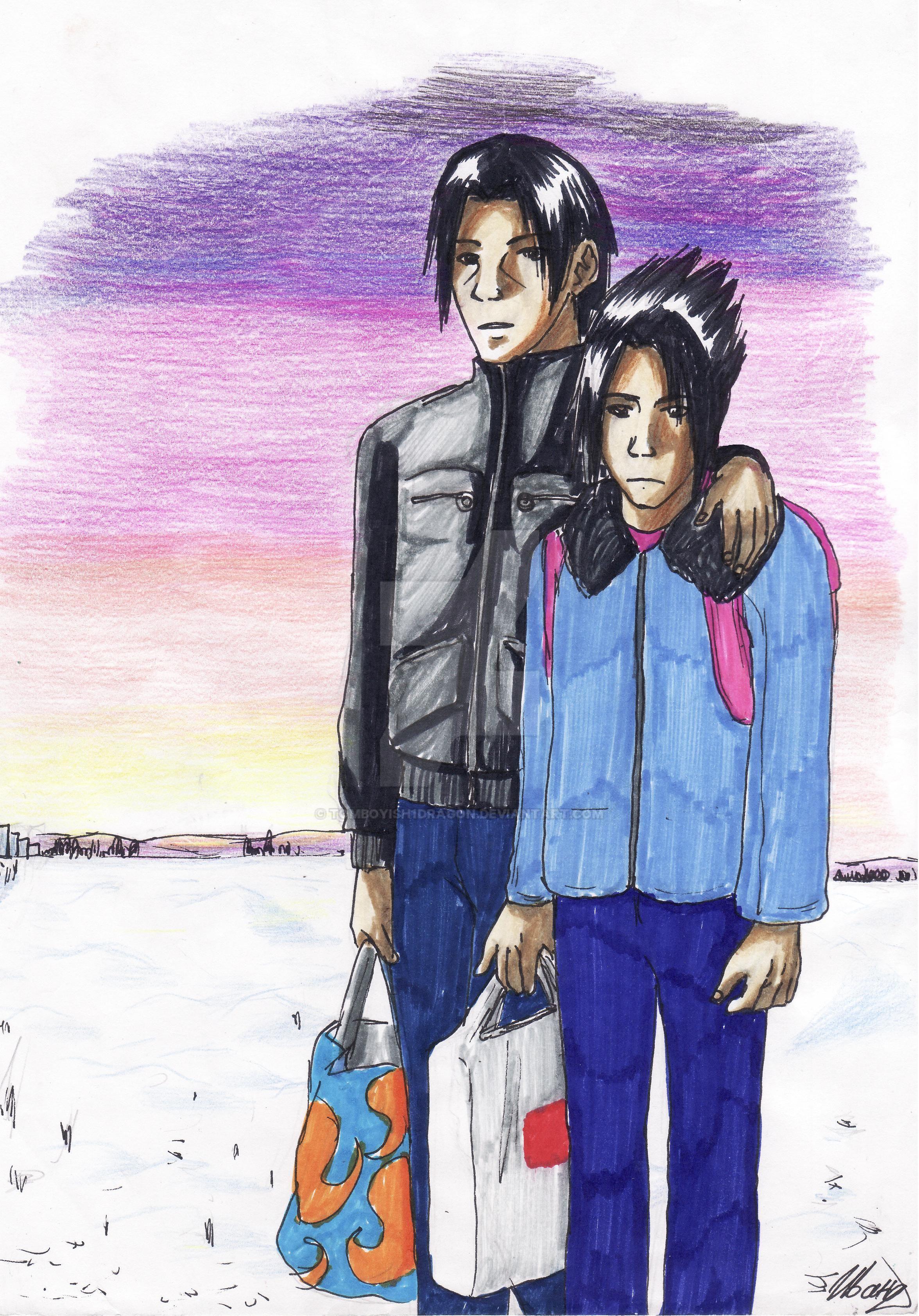 Uchiha Brothers by tomboyish1dragon