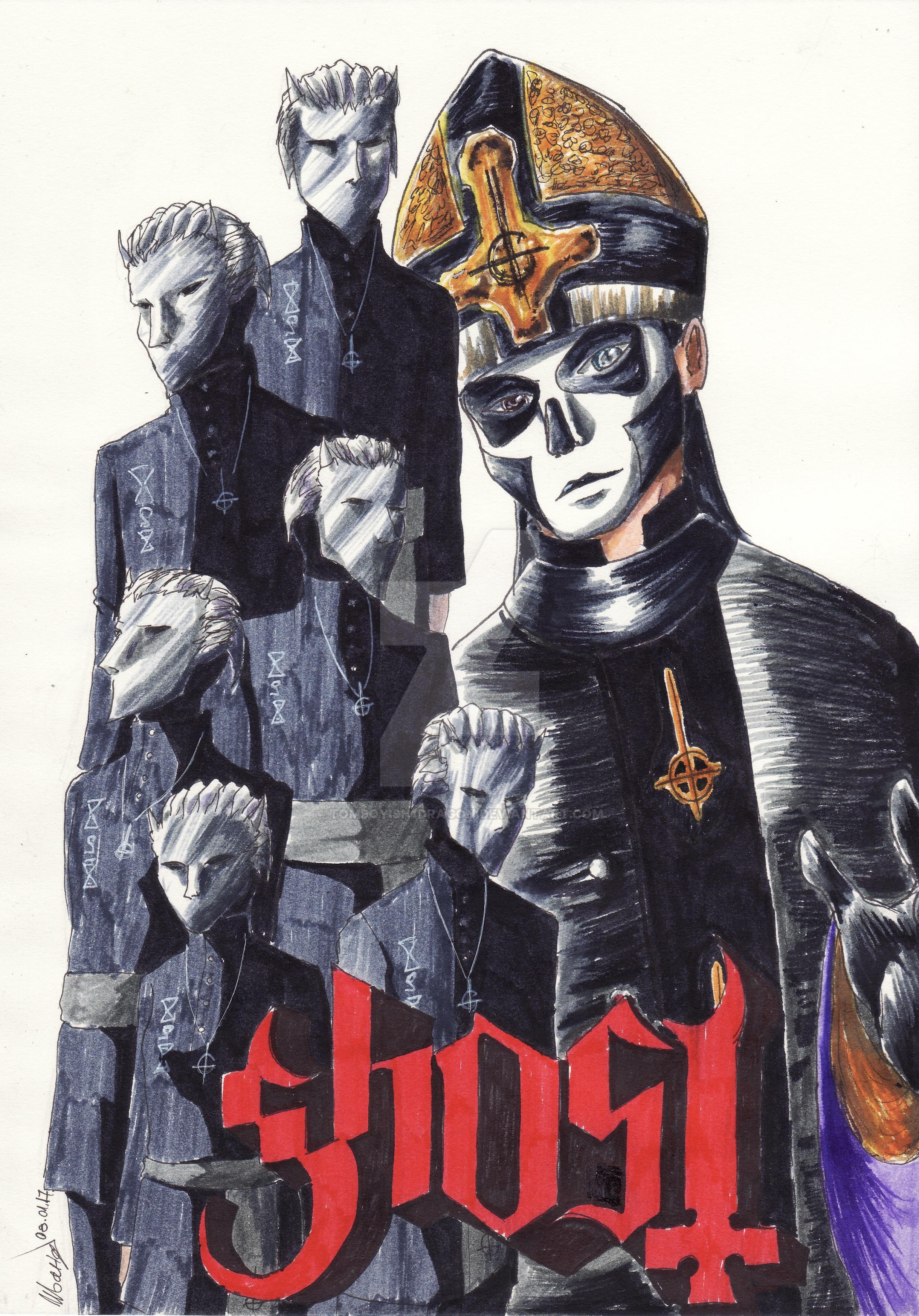 Ghost Manga Cover by tomboyish1dragon