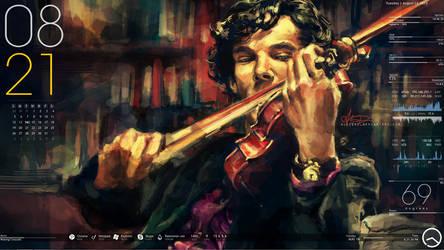 Sherlock Holmes Rainmeter by akatsuki-blast