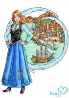 Anna: Frozen by ColourmeRen