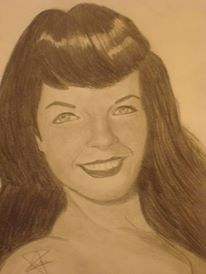 Bettie Page by AriadnaFdez