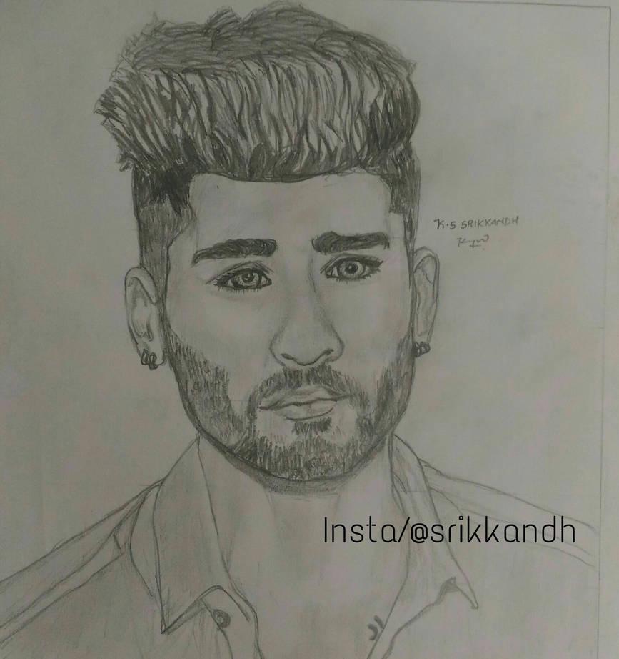 Zayn malik pencil sketch by srikkandh