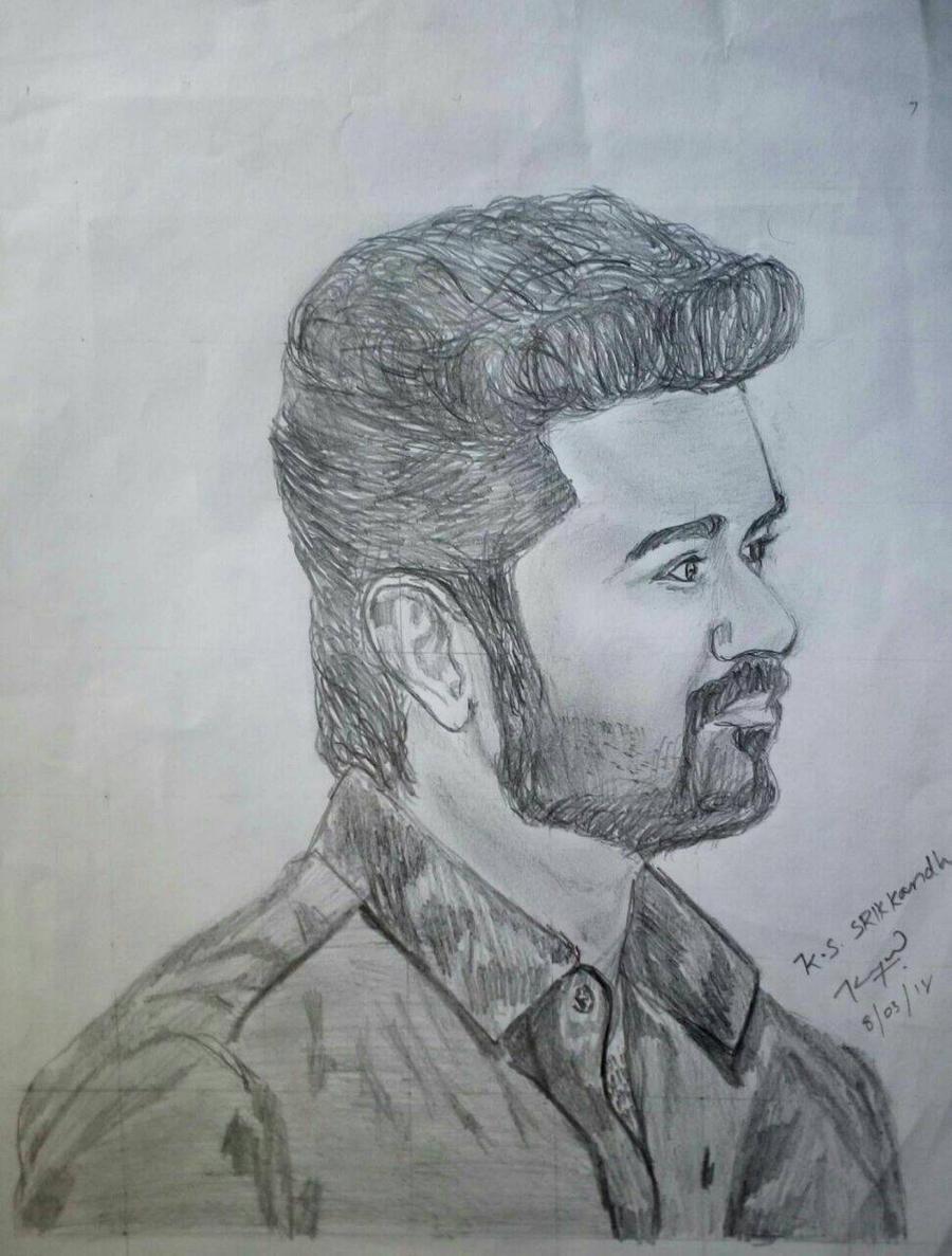 Vijay Pencil Sketch By Srikkandh On Deviantart