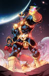 Thanos and Mar-vell