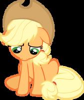 Sad Applejack by Perinigricon