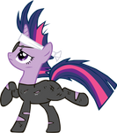 Twilight becomes one with the statuary
