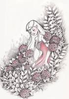 Pink Hydrangeas by ShannonValentine