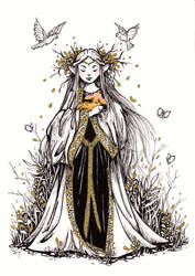 Woodland Elf - Inktober #15 by ShannonValentine