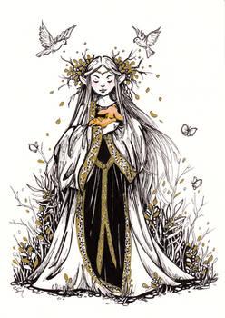 Woodland Elf - Inktober #15