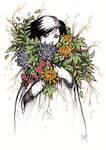 Flower Girl - Inktober #21 by ShannonValentine