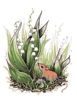 Tiny Mouse - Inktober #23