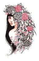 Girl Bouquet - Inktober #29 by ShannonValentine