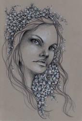 Girl With Hydrangeas