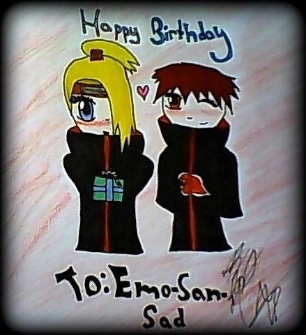 Happy Birthday Emo-San-Sad by AssassinGirlz on deviantART