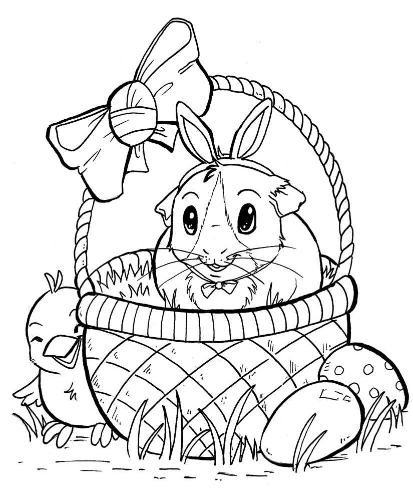 Guinea Pig Coloring Pages – coloring.rocks! | 1006x825