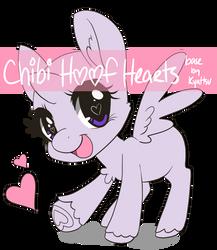 Chibi Hoof Heart Base [P2U - $1.00/100pt] by konekonoarashi