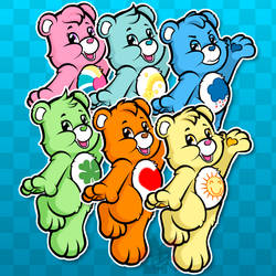 Stickers - Care Bears by CindersDesigns