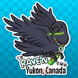 Sticker - Yukon Raven