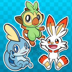 Stickers - Sword and Shield Starters