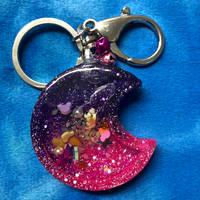Shaker Charm - Glitter Moon