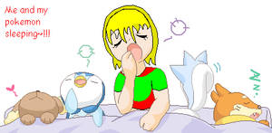 Me and my sleepy pokemon