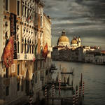 Blick auf die Santa Maria della Salute by Bildmalerin