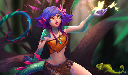 Neeko (league of legends) by EvBel
