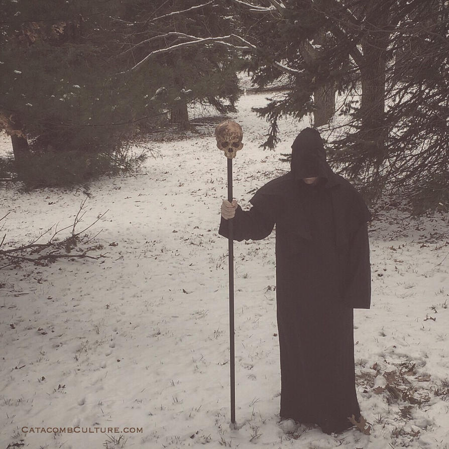 Human Skull Staff catacomb culture  by catacombculture